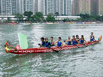 The Amazing Race China 4 - The very first challenge of The Amazing Race China 4 had teams participated in a dragon boat race along Central Pier.