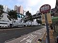 HK TKO 將軍澳 Tseung Kwan O 唐明街 Tong Ming Street footbridge KMBus stop sign November 2019 SS2 01.jpg