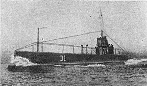 British D-class submarine - Image: HMS D1 (WWI)