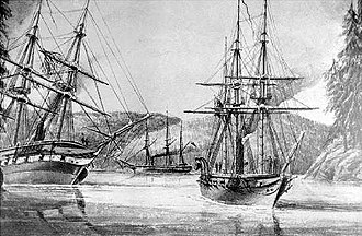 HMS Plumper (1848) - HMS Plumper (right)