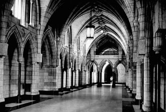 Centre Block - Hall of Honour before the carving of its corbels between 1947 and 1949