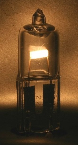 Halogen lamp - A close-up of a halogen lamp