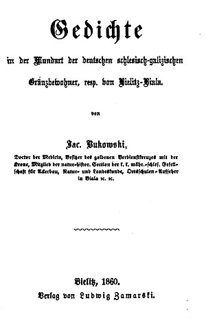 Alzenau dialect - Alzenau Poems (1860)
