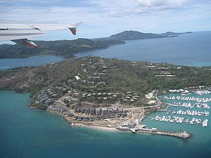 Hamilton Island, Queensland with Whitsunday Is...