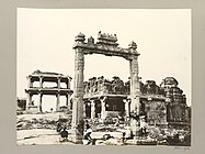 Hampi King's Balance Vitthala temple street entrance near river 1856 photo.jpg