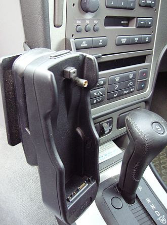 Handsfree - Hands-free phone kit fitted to a Saab 9-5.