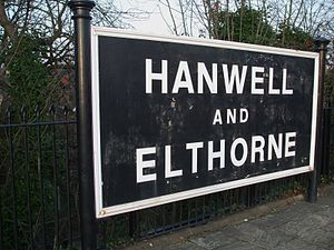 Hanwell railway station - Image: Hanwell station old signage