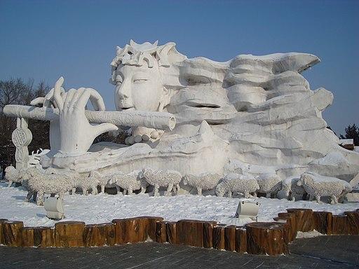 Harbin snow sculpture flute