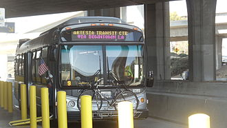Harbor Transitway - Metro Silver Line runs on the Harbor Transitway with frequent service.