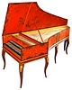 The double-manual harpsichord of Vital Julian Frey, after model from Jean-Claude Goujon 1749.