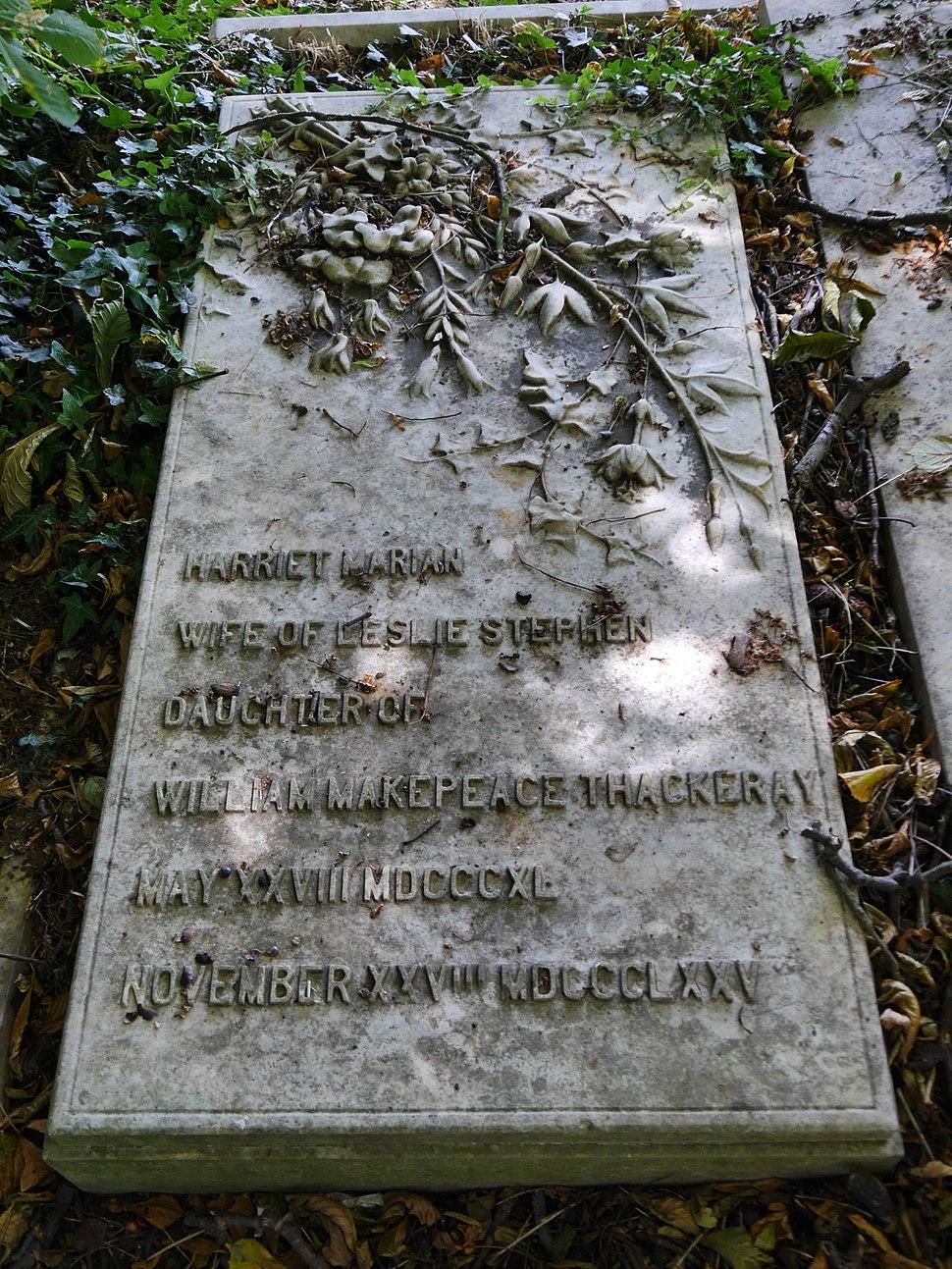 Harriet Marian Thackeray Stephen, Kensal Green Cemetery