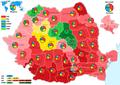 Harta parlamentare 2016 procente.png