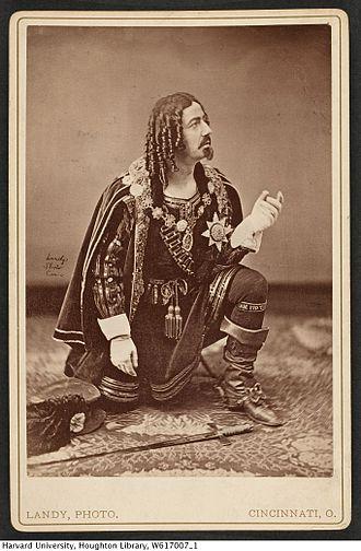 Gustavus Vaughan Brooke - Brooke in costume (undated)