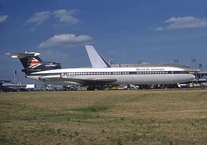 1976 Zagreb mid-air collision - Image: Hawker Siddeley HS 121 Trident 3B, British Airways AN0575835