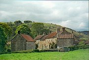 The lower part of Hawnby village in May 2003