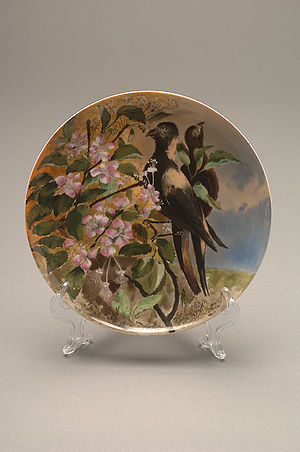 Lucy Hayes - Hayes presidential china dinner plate, 1877