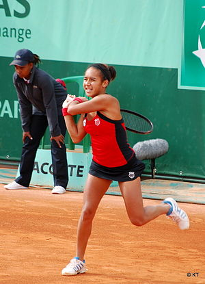 Heather Watson during her 2nd round match with...