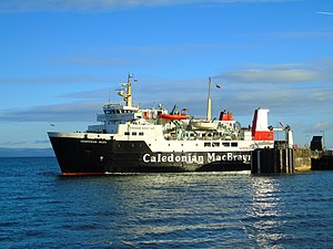 MV Hebridean Isles - Departing Brodick while covering for Caledonian Isles.