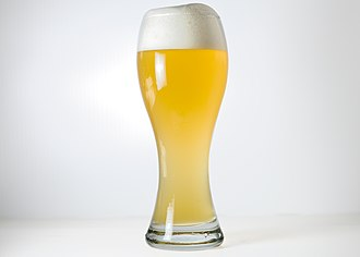 Wheat beer - A German Hefeweizen glass