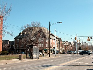Cleveland Heights, Ohio - View of the Heights Rockefeller Building, from Mayfield and Lee Roads