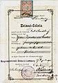 Heimatschein Deutschlandsberg Thekla Sainitzer Zanitzer 1900.jpg