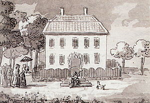 Helena Quiding - Heleneberg by Pehr Hilleström. Carl Michael Bellman welcomes Helena Quiding to Heleneberg the 31 July 1792.