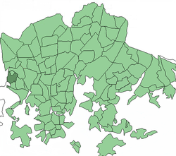 Position of Tali within Helsinki