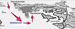 Puerto Rico - Hendricksz 1625 attack on San Juan, Puerto Rico