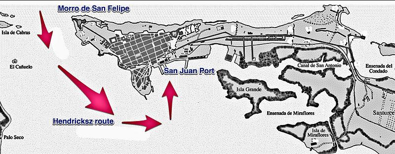 Hendricksz 1625 attack on San Juan, Puerto Rico.jpg