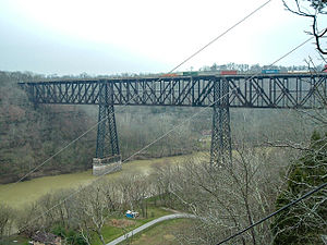 High Bridge of Kentucky - High Bridge, viewed from Jessamine County