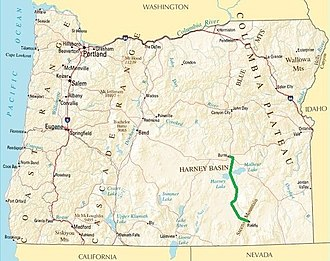 High Desert Discovery Scenic Byway - Image: High Desert Discovery Scenic Byway map