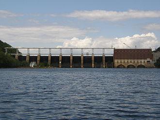 Yadkin–Pee Dee River Basin - High Rock Dam, built in 1927.