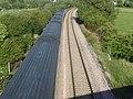 High speed train passing under the bridge at Oath - geograph.org.uk - 450117.jpg