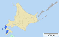 Location of Hiyama Subprefecture