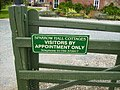Holiday Cottages sign at Sparrow Hall - geograph.org.uk - 540786.jpg