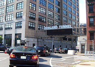 Holland Tunnel Tunnel under the Hudson River between Jersey City, New Jersey and Manhattan, New York