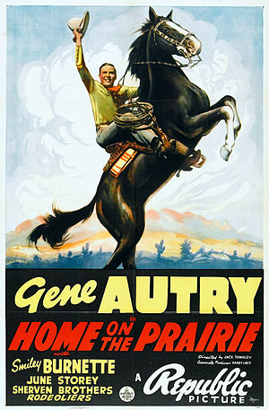 Champion the Wonder Horse - Original Champion shown on the Home on the Prairie poster, 1939