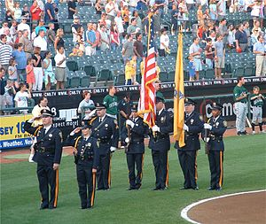 New Jersey State Parole Board - Presenting the Colors at a Trenton Thunder Home Game