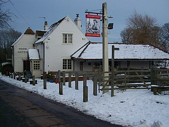 Securitas depot robbery - The Hook and Hatchet Pub, Hucking where the Parcelforce van was found