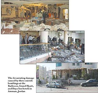 2005 Amman bombings series of coordinated bomb attacks that took place in Amman, Jordan in 2005