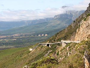 Hottentots Holland Mountains - Hottentots Holland Mountains and Sir Lowry's Pass