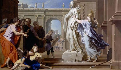 Houasse, René-Antoine - Minerva lehrt Bildhauen - 1688
