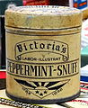 Household products, Victoria's Peppermint-Snuff 1898 pic2.JPG