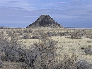 Huerfano Butte mountain in United States of America
