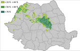 Hungarians in Romania (according to the 2011 census)