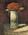 Hydrangeas by Georges Pierre Seurat, c. 1878-1879, oil on canvas - Fogg Art Museum, Harvard University - DSC00709.jpg