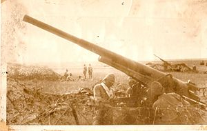 Type 88 75 mm AA gun - A battery of Type 88s of the 2nd AA-Regiment (IJA 1st Division)