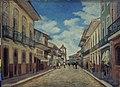 I. de Sampaio Mathissen - Rua Direita, 1858 (A Esquerda Igreja de Santo Antônio), Acervo do Museu Paulista da USP.jpg