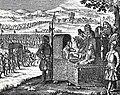 II. Ulászló magyar király találkozása Zsigmond lengyel királlyal, Pozsony 1515. (von Birken, Spiegel der ... Erzhauses Oesterreich. Nürnberg, 1668. p. 1325).jpg