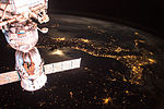 ISS-43 Italy with Soyuz TMA-15M at night.jpg